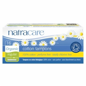 Natracare Organic All-Cotton Tampons with Applicator, Regular- 16 ea