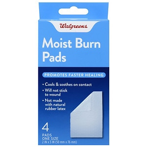 Walgreens Moist Burn Pads, 2nd Skin, 4 ea