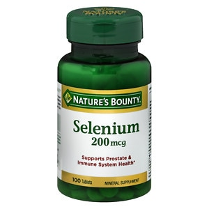Nature's Bounty Selenium, 200 mcg Tablets.- 100 ea