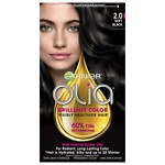 Garnier Olia Permanent Haircolor, 2.0 Soft Black
