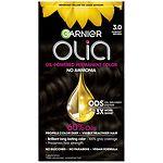 Garnier Olia Permanent Haircolor, 3.0 Darkest Brown- 1 ea