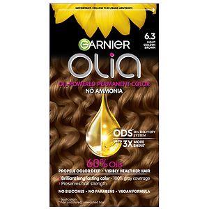 Garnier Olia Permanent Haircolor, 6.3 Light Golden Brown