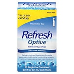 Refresh Optive Preservative-Free Lubricant Eye Drops Single Use