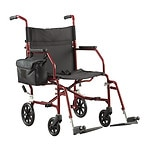 Walgreens Ultra-Light Weight Transport Chair, Burgundy