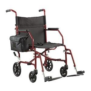 Walgreens Ultra-Light Weight Transport Chair, Burgundy- 1 ea