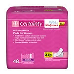 Walgreens Certainty Dri-Fit Pads for Women, Maximum Absorbency, Regular Length- 48 ea