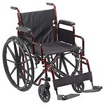 Drive Medical Rebel Lightweight Wheelchair, Flame Red, 18 inch- 1 ea