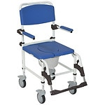 Drive Medical Aluminum Shower Commode Transport Chair- 1 ea