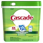 Cascade ActionPacs Dishwasher Detergent, Fresh