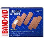 Band-Aid Brand Adhesive Bandages Tough Strips- 60 ea