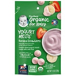 Gerber Organic Yogurt Melts, Freeze-Dried Yogurt Snacks, Banana Strawberry- 1 oz