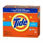 Tide Ultra HE Powder Laundry Detergent, 40 Loads, Clean Breeze