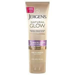 Jergens Natural Glow 3 Days to Glow Moisturizer, Fair to Medium