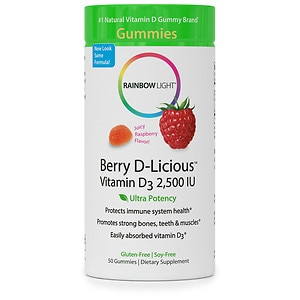 Rainbow Light Vitamin D3 2,500 IU Gummies, Raspberry- 50 ea