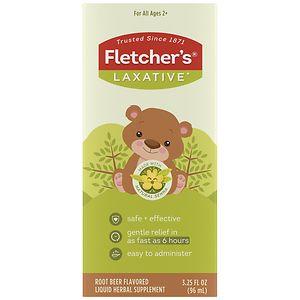 Fletcher's Laxative For Kids Liquid Herbal Supplement, Classic Root Beer Taste- 3.25 oz