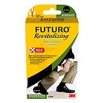 FUTURO Revitalizing Dress Socks for Men, Model 71039EN, Black, Large- 1 pr
