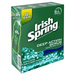 Irish Spring Deodorant Soap - Bars Deep Action Scrub with Scrubbing Beads- 3.75 oz