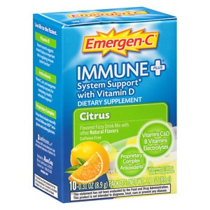 Emergen-C Immune+ Travel Box, Citrus, 10 ea