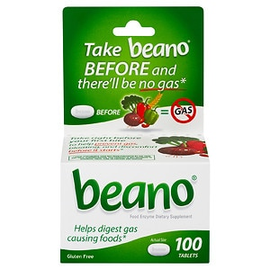 Beano Food Enzyme Dietary Supplement, Tablets- 100 ea