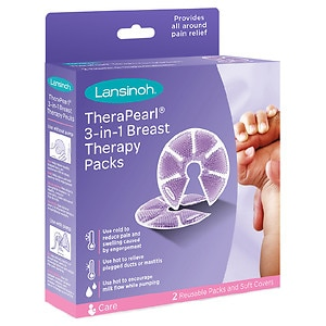 Lansinoh TheraPearl 3 in 1 Breast Therapy, 2 ea