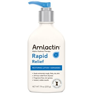 AmLactin Cerapeutic Alpha-Hydroxy Ceramide Therapy Restoring Body Lotion, Fragrance Free- 7.9 oz