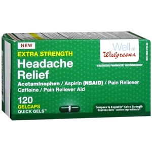 Walgreens Extra Strength Headache Relief Quick Gels, 120 ea
