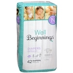 Well Beginnings Premium Diapers Jumbo, Newborn