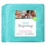 Well Beginnings Premium Baby Wipes Refill, Scented- 216 ea