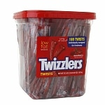 Twizzlers Twists Canister, Strawberry- 57.5 oz