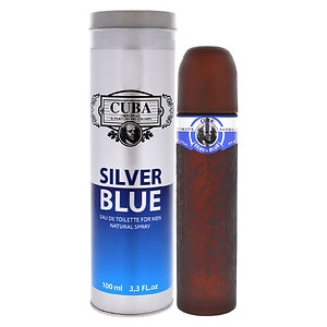 Cuba Silver Blue Eau de Toilette Spray- 3.3 fl oz