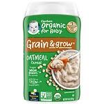 Gerber Organic Oatmeal Whole Grain Cereal
