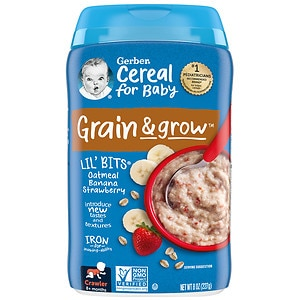 Gerber Lil Bits Oatmeal Cereal, Banana Strawberry