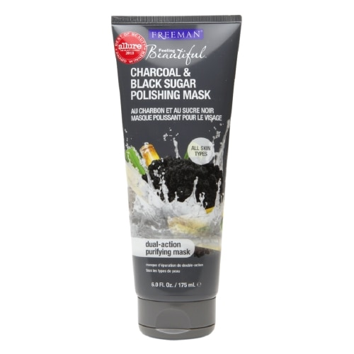 Freeman Feeling Beautiful Facial Polishing Mask, Charcoal & Black Sugar - 6 floz