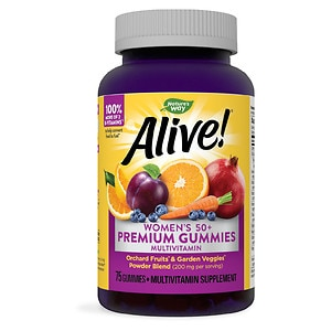 Nature's Way Alive! Women's 50+ Gummy Multivitamin- 75 ea