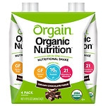 Orgain Organic Nutritional Liquid Shakes 4 Pack 11 oz Cartons,