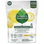 Seventh Generation Automatic Dishwasher Detergent Pacs, Lemon- 20 Each