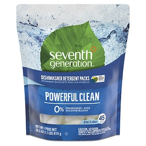 Seventh Generation Automatic Dishwasher Detergent Pacs, Free & Clear