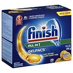 Finish All in One Gelpacs, Orange- 20 ea