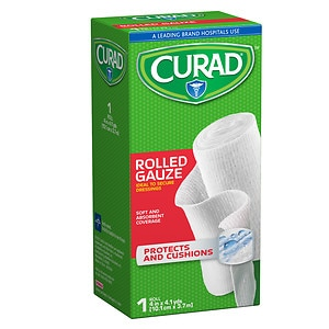 Curad Pro-Sorb Rolled Gauze Sterile Roll, White, 4 in x 2.5 yds (101 mm x 2.2 mm)- 1 ea