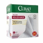 Curad Pro-Sorb Rolled Gauze Sterile Rolls, White, 4 in x 2.5 yds (101 mm x 2.2 mm)- 5 ea