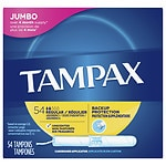 Tampax Tampons with Anti-Slip Grip Cardboard Applicator, Regular- 54 ea