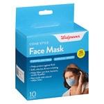 Walgreens Face Mask, Cone Style- 10 ea