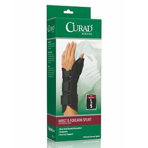 Curad Wrist & Forearm Splint with Abducted Thumb-Left, Medium, Black- 1 ea