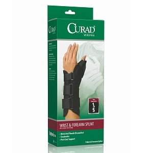 Curad Wrist & Forearm Splint with Abducted Thumb-Left, X-Large, Black- 1 ea