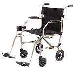 Medline Freedom Ultra-Lightweight Transport Chair, Silver, 19 x 16 inch- 1 ea