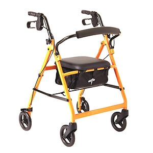 Medline Basic Rollator, Orange