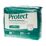 Medline Protect Extra Protective Underwear Moderate, Medium, White- 80 ea