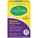 Culturelle Digestive Health Probiotic Chewables, Orange