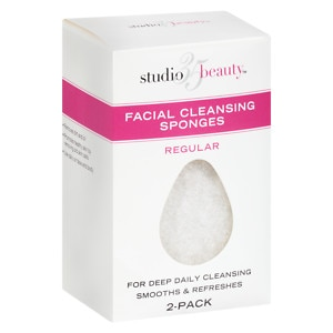 Studio 35 Facial Cleansing Sponges- 2 ea