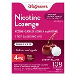 Walgreens Nicotine Lozenges 4 mg, Cherry- 108 ea